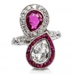 Burma & Old Diamond Pear Shape Ring