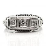 Gold 3 Stone Diamond Ring
