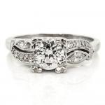 Old European & Marquise Diamonds Ring