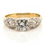 Antique Old Cut Diamond Platinum & Gold Engagement Ring