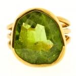 Peridot & Gold Ring
